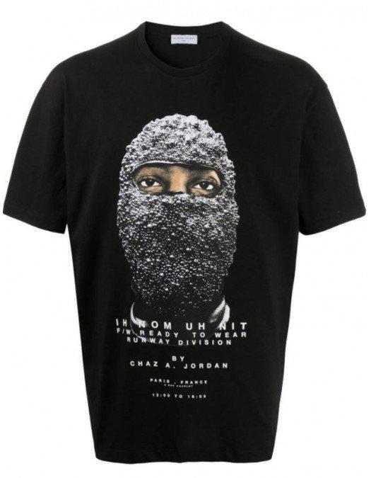 Tricou Ih Nom Uh Nit, Imprimeu Frontal, Negru -