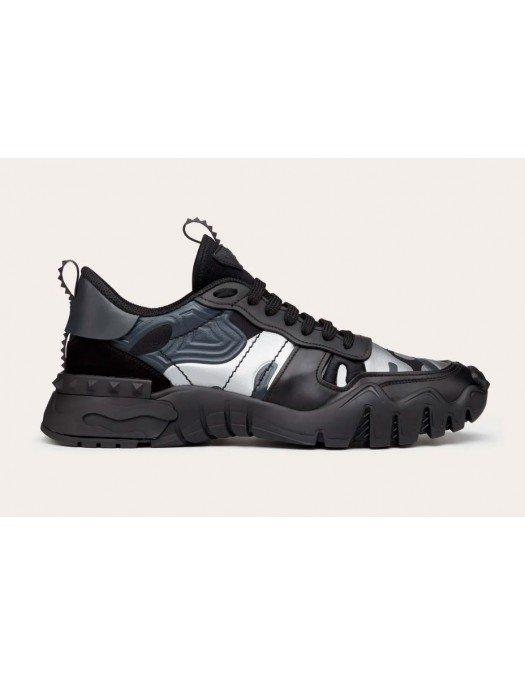 Sneakers Valentino Garavani, Imprimeu Silver/Black - OC88MHB33X