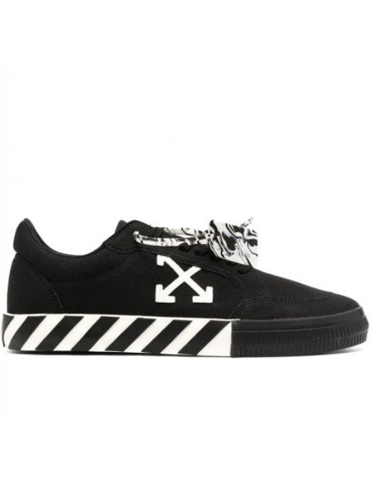 Sneakers Off White, Low Vulcanized Black - OMIA085R21FAB0011001