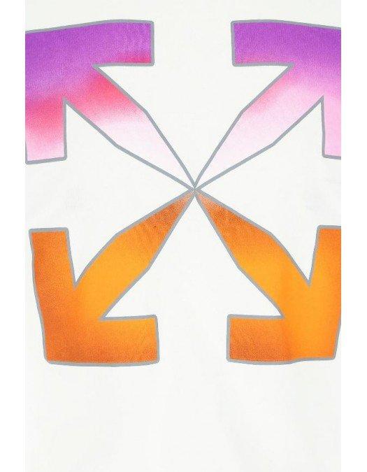 Tricou OFF WHITE, Sageti Orange Purple, Alb - OWAA040R21JER0010184