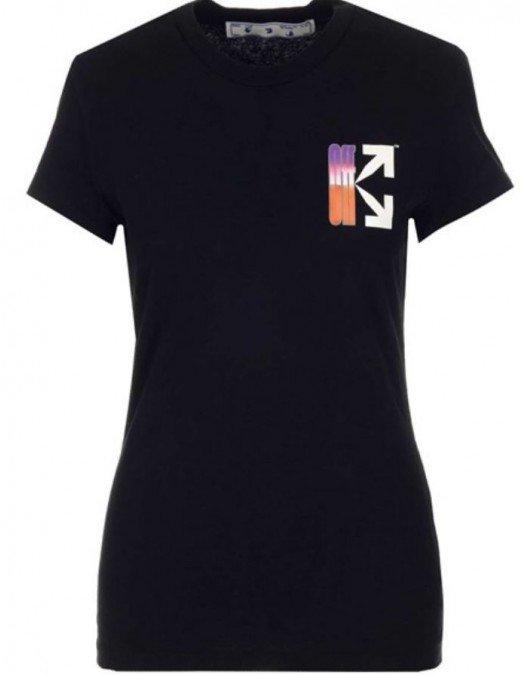 Tricou OFF WHITE, Sageti Orange Purple, Negru - OWAA040R21JER0011084