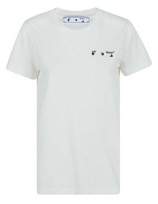 Tricou OFF WHITE, Imprimeu pe spate, Alb - OWAA049R21JER0010331