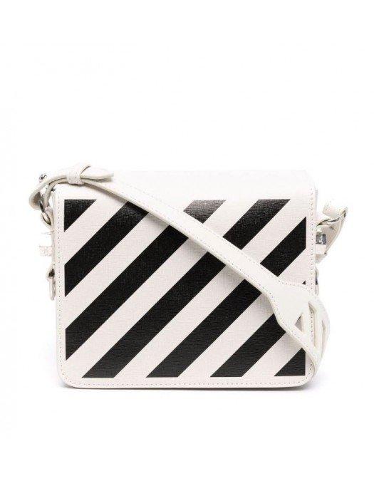 GEANTA OFF WHITE, Diag Shoulder Bag - OWNN018F21LEA0020110