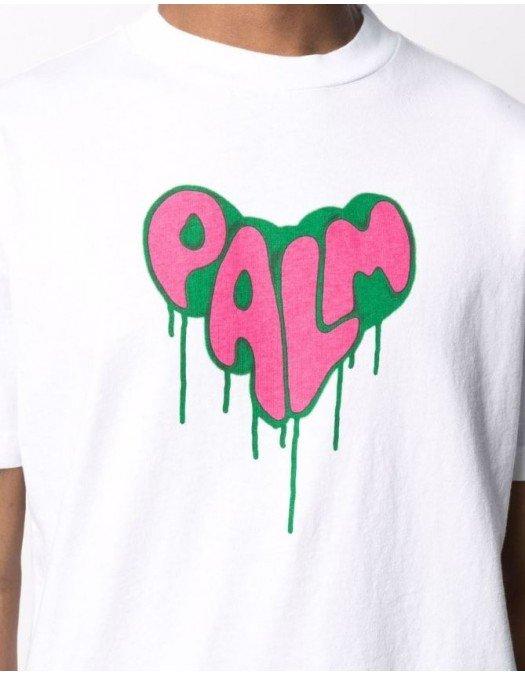 Tricou PALM ANGELS, Spray HEART - PMAA001F21JER0220132