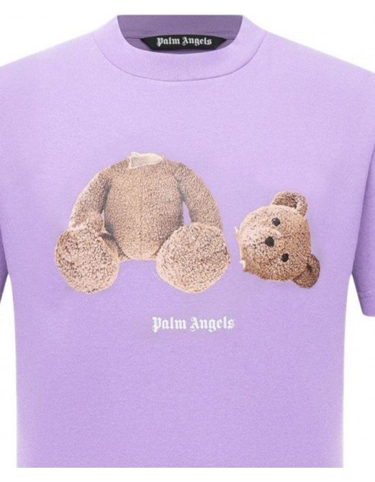 TRICOU PALM ANGELS , TEDY BEAR PRINT, Purple - PMAA001F21JER0233660
