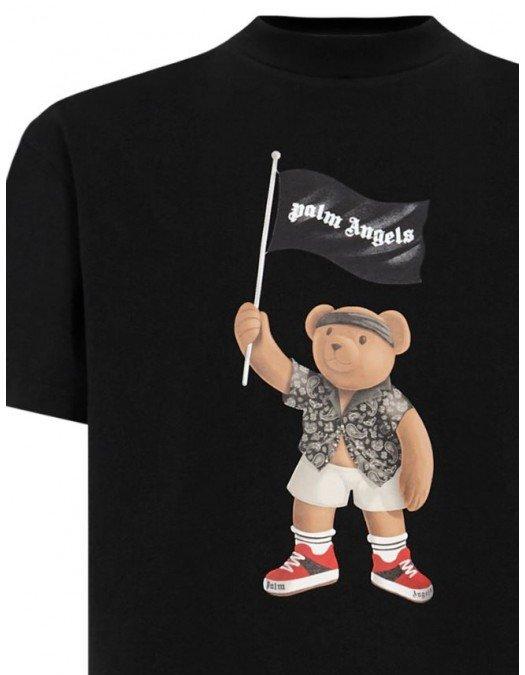 Tricou PALM ANGELS, Pirate Bear, Negru - PMAA001S21JER0191001