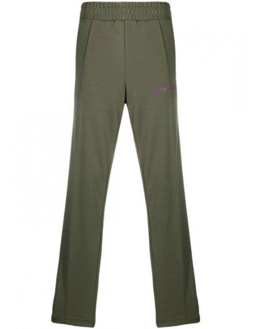Pantaloni Palm Angels, Kaki, Logo Frontal - PMCA007R21FAB0035637