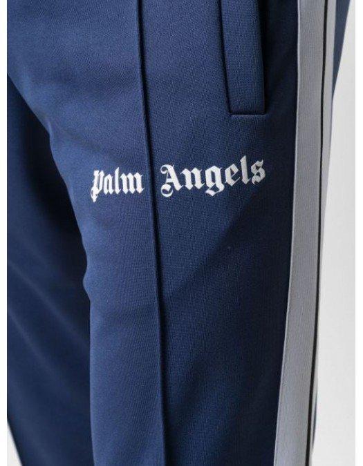 Pantaloni Palm Angels, Logo Alb, Bumbac - PMCA023R21FAB0034601