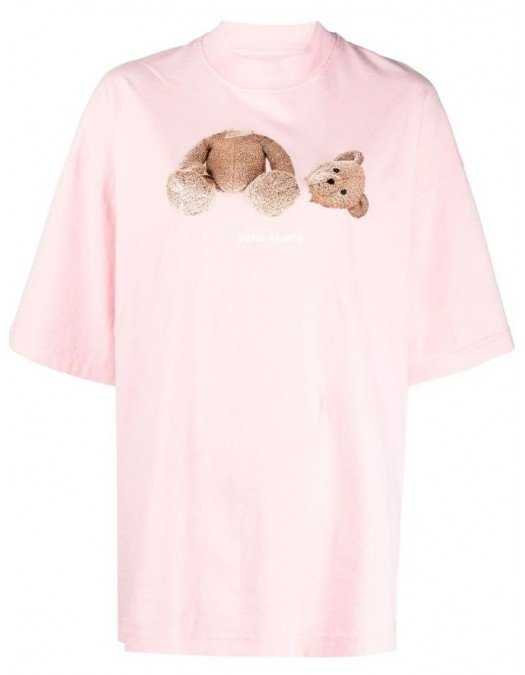 Tricou PALM ANGELS, Tedy Bear, Pink - PWAA017S21JER0023434