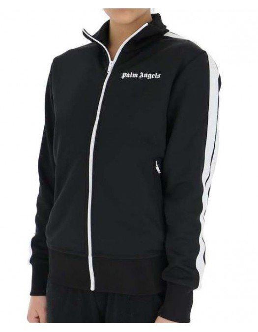 JACHETA PALM ANGELS, Black, Athletic Jacket - PWBD019S21FAB0051001