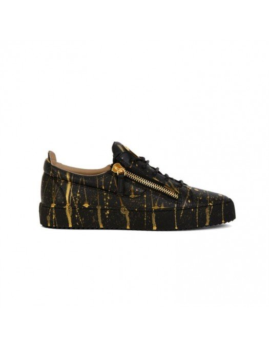 Sneakers GIUSEPPE ZANOTTI, Frankie, Black and Gold - RM10020003