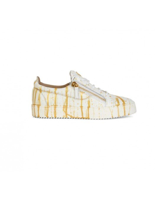 Sneakers GIUSEPPE ZANOTTI, Frankie, White and Gold - RM10020004