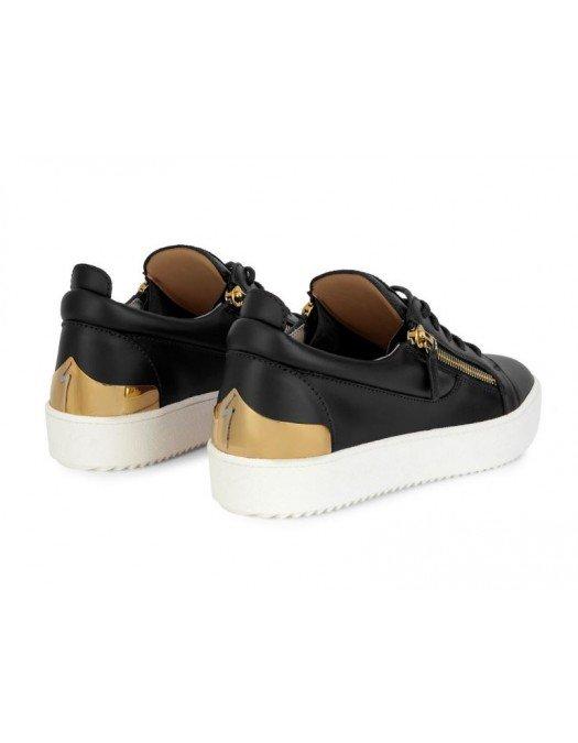 Sneakers GIUSEPPE ZANOTTI, Gold and Black Frankie Steel - RM10036001