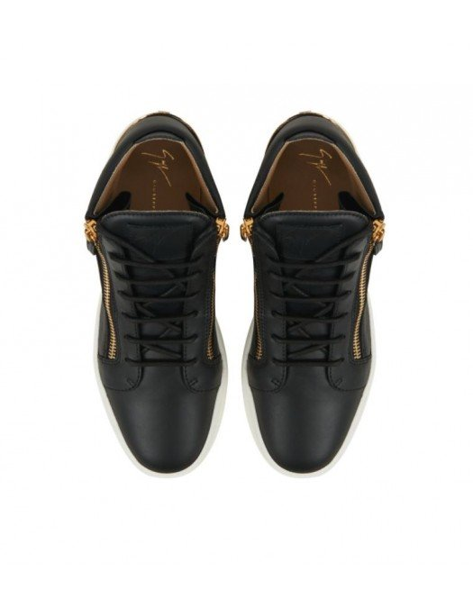 Sneakers GIUSEPPE ZANOTTI, High, Black and Gold - RM10037001