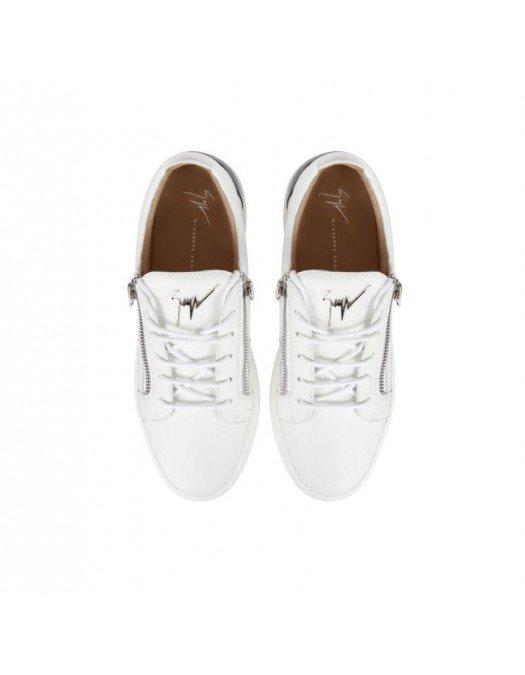 Sneakers GIUSEPPE ZANOTTI, Frankie, Alb cu insertie neagra la spate - RM10039001