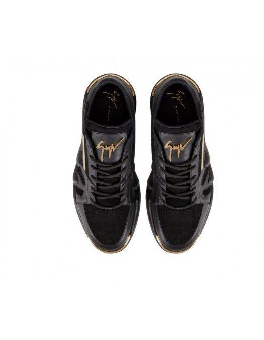 Sneakers Giuseppe Zanotti, Insertie Aurie, Negru - RM10042001