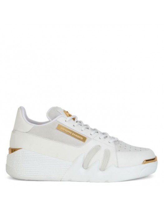 Sneakers Giuseppe Zanotti, Insertie Aurie, Alb - RM10042002