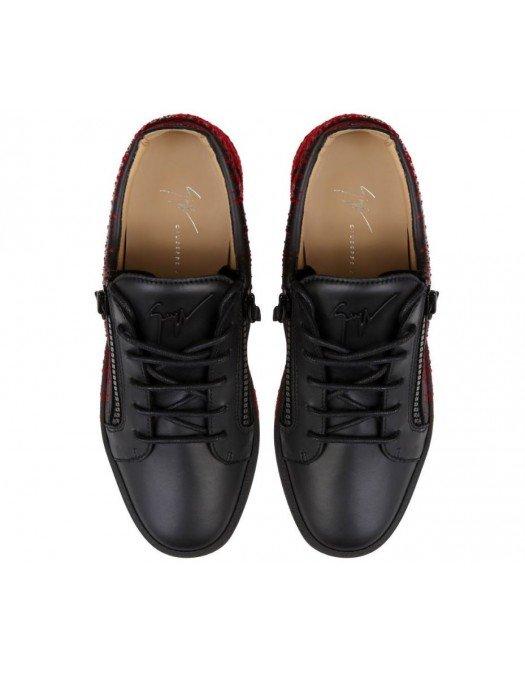Sneakers GIUSEPPE ZANOTTI, Frankie Spray, Negru Rosu - RU00024005