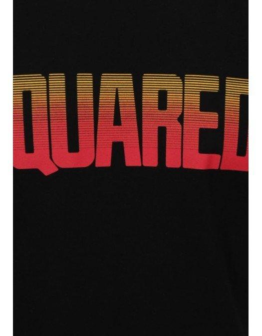 Tricou Dsquared2, Imprimeu Frontal, Negru - S71GD0943900
