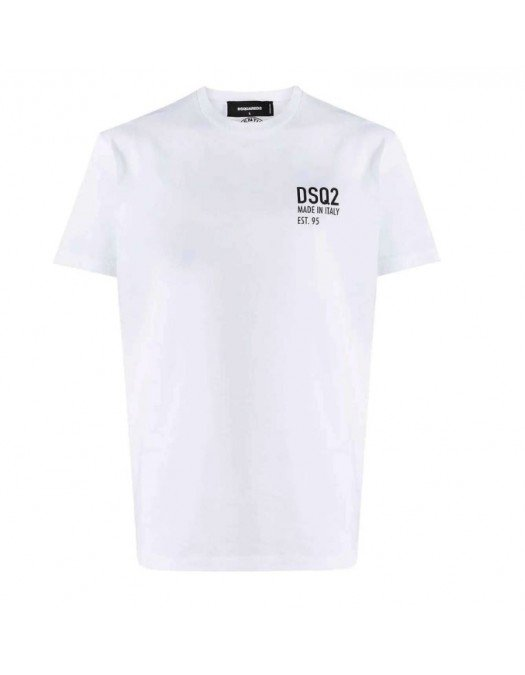 Tricou Dsquared2, Imprimeu Made in Italy, Alb - S71GD1018S23009100