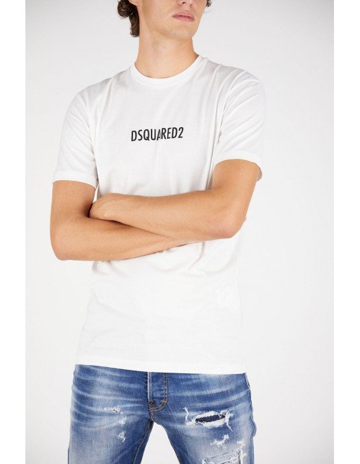 Tricou Dsquared2, White, Imprimeu Made in Italy - S71GD1025S23009100