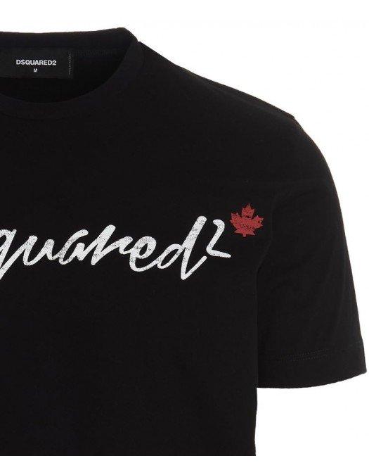 Tricou DSQUARED2, Logo Dsquared2 Cool, Negru - S71GD1068S23009900