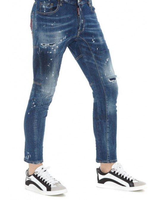 Jeans Dsquared2, Tidy Biker, Albastru - S71LB0772470