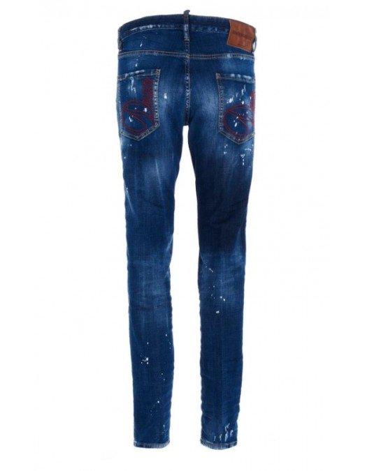 Jeans Dsquared2, Cool Guy Jeans, Albastru - S71LB0773470