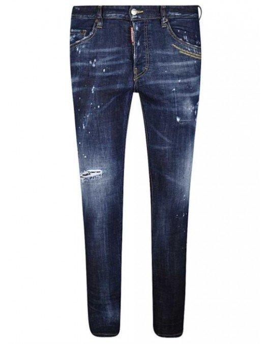 Jeans Dsquared2,  Skater Jeans, Albastru - S71LB0780470