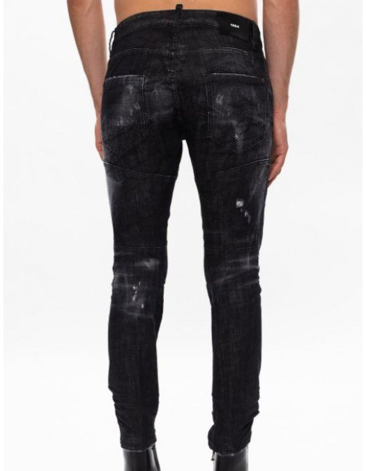Jeans Dsquared2, Tidy Biker, Negru - S71LB0801900