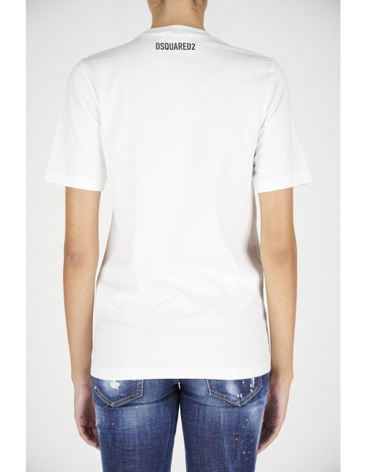 TRICOU DSQUARED2, Bumbac, Logo frontal - S72GD0297S23009900
