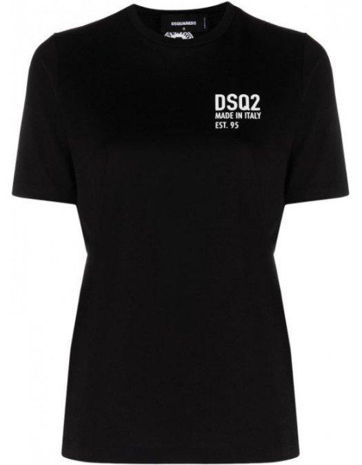 TRICOU DSQUARED2, Bumbac, Logo Alb - S72GD0297S23009900