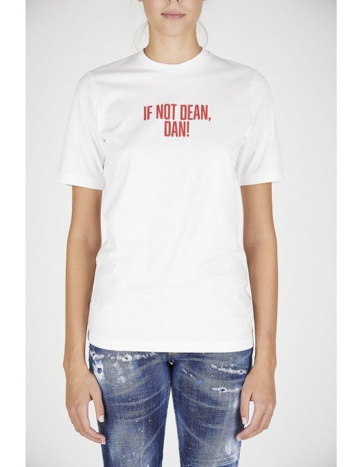 "TRICOU DSQUARED2, ""IF NOT DEAN, DAN"", Bumbac - S72GD0298S23009100"