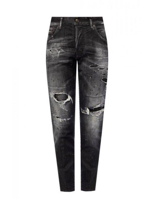 Jeans Dsquared2, Skinny Dan Jean, Negru - S72LB0375900