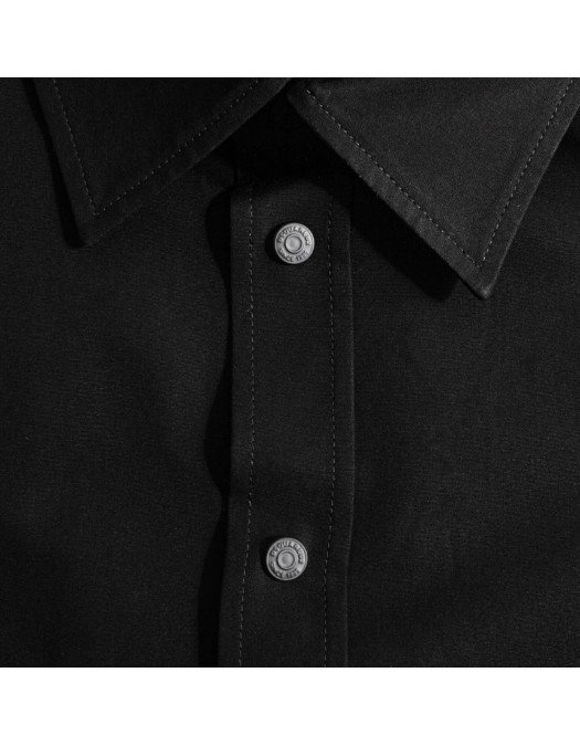 Camasa DSQUARED2, Logo pe maneci, Neagra - S74DM0449900