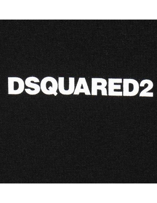 Tricou DSQUARED2, Logo frontal, Negru - S74GD0769900