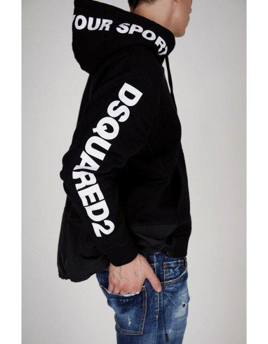 Hanorac Dsquared2, Black, Insertie logo - S74GU0473S25042900