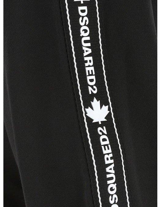 Hanorac DSQUARED2, Fermoar alb, Logo atasat - S74HG0103477