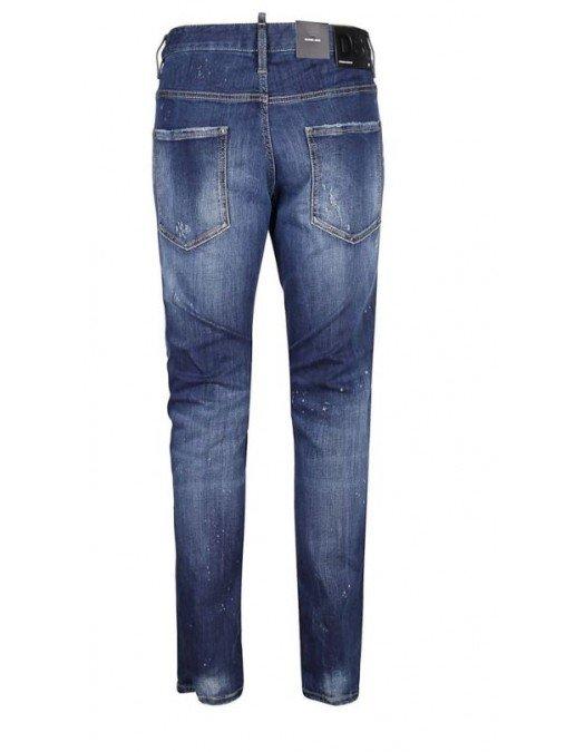 Jeans DSQUARED2, Croiala Skater, Patch atasat - S74LB0805470