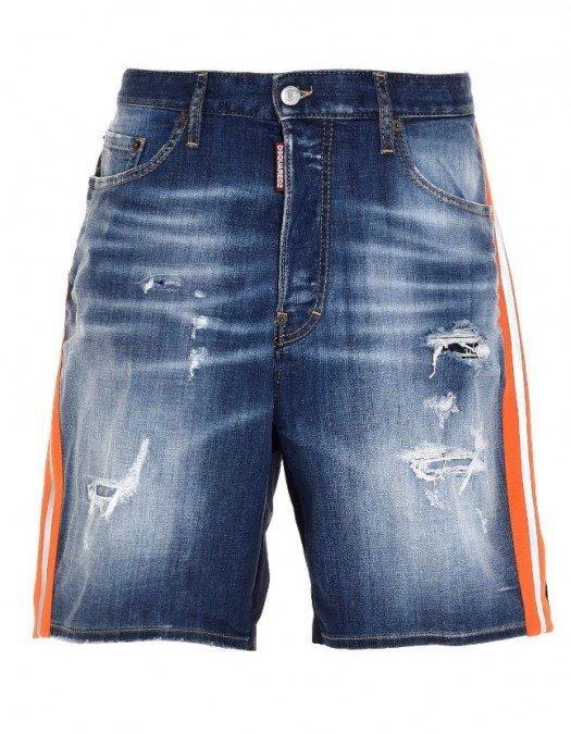 Pantaloni scurti DSQUARED2, Mix de materiale, Blue - S74MU0639S30342470