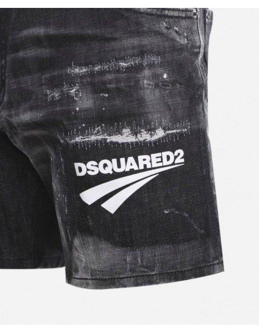 Pantaloni scurti DSQUARED2, Black Denim - S74MU0675S30357900