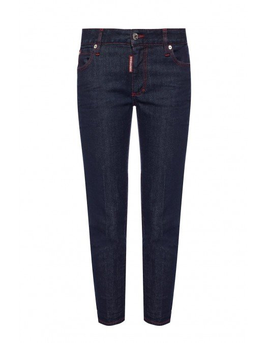 JEANS DSQUARED2 SS20 CROPPED TWIGGY JEANS - S75LB0258470 - JEANS FEMEI
