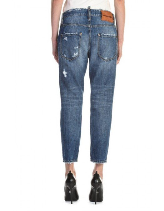 JEANS DSQUARED2 SS20 HOCKNEY CROPPED JEANS - S75LB0316470 - JEANS FEMEI