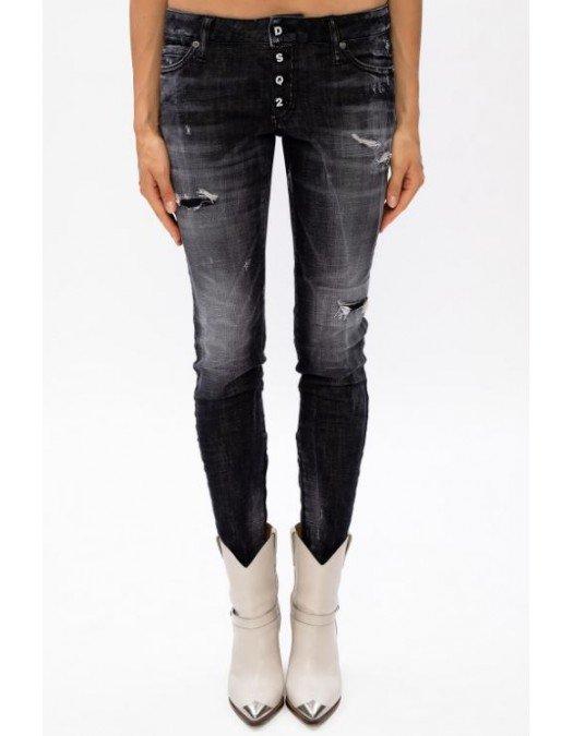 Jeans DSQUARED2, Skinny Jeans, Negru S75LB0345S30357900 - S75LB0345S30357900