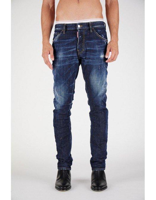 Jeans Dsquared2, IBRAHIMOVIC ICON JEANS, Skater jean, Dark Blue - S79LA0028S30664470