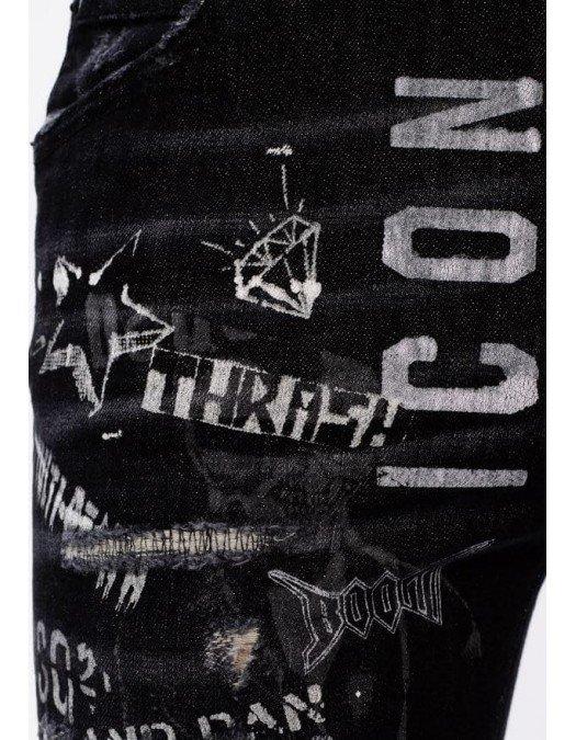 Jeans Dsquared2, Cropped Jeans, Negru - S80LA0008900