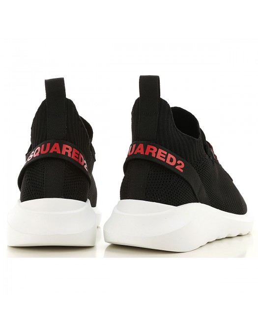 SNEAKERS DSQUARED2, BLACK RED, Speedster - SNM007459202114M002