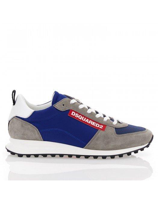 Sneakers Dsquared2, Alb si Albastru - SNM008111702261M59942