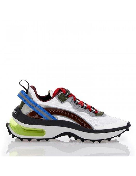 Sneakers DSQUARED2, Talpa cu gel verde, Multicolori, Dama - SNW011711704254M1330