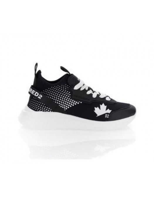 Sneakers DSQUARED2, Black and White SNM016116503889M063 - SNM016116503889M063